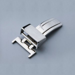 16 18 Silver Watch Strap Buckle Solid Deployant Clasp Butterfly Fold Spring Bar Style Watch Buckle