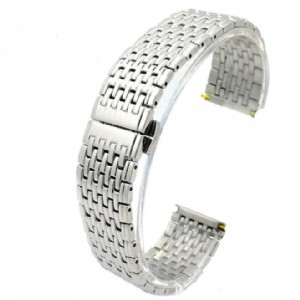 9 Beads Stainless Steel Strap Butterfly Buckle Watch Band Solid Link Wristband