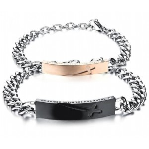 Cross Bracelet for Men Women Couples Jewelry Fashion Stainless Steel Chain Couple Bracelets
