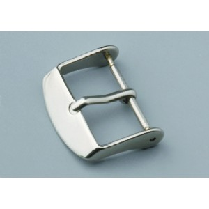 Different Sizes Polished Tang Buckle Watch Clasp For Leather PU Strap
