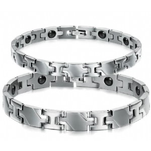 Healthy Magnetic Bracelets & Bangles Stainless Steel Jewelry for Men Women Couple Bracelet