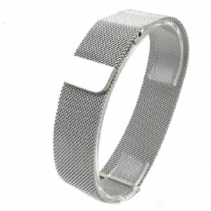 Milanese Solid Wire Mesh Magnetic Loop Watchband for Fitbit Blaze Interlock Clasp Watch Strap