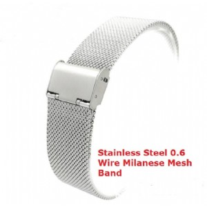 Milanese Stainless Steel Solid 0.6 Wire Mesh Watchband for Fitbit Blaze Fold Over Clasp