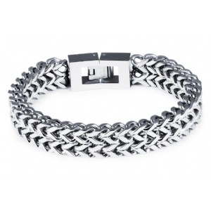 Personality Square Fish Scales Stainless Steel Bracelets&Bangles for Men