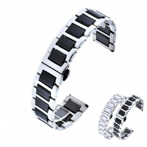 Quick Release Ceramic Watch Band for Samsung Gear S3 Classic Frontier Butterfly Clasp Wristband