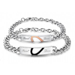 Real Love Infinite Low Couple Bracelets Stainless Steel Men Promise Jewelry