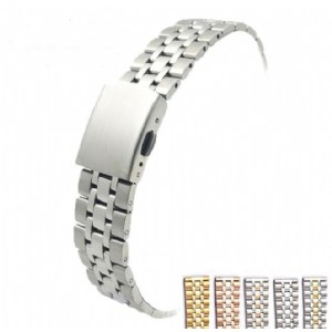 Stainless Steel 5 Beads Watch Band Strap Watch Band High-End Women Classic Wristband