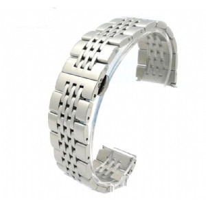 Stainless Steel 7 Beads Watch Band Strap Polished/Brushed Classic Wristband Wholesale