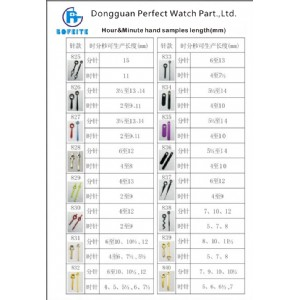 Top Quality Watch Hands Fit for Different Movement Wrist Watch Parts Timepiece Parts